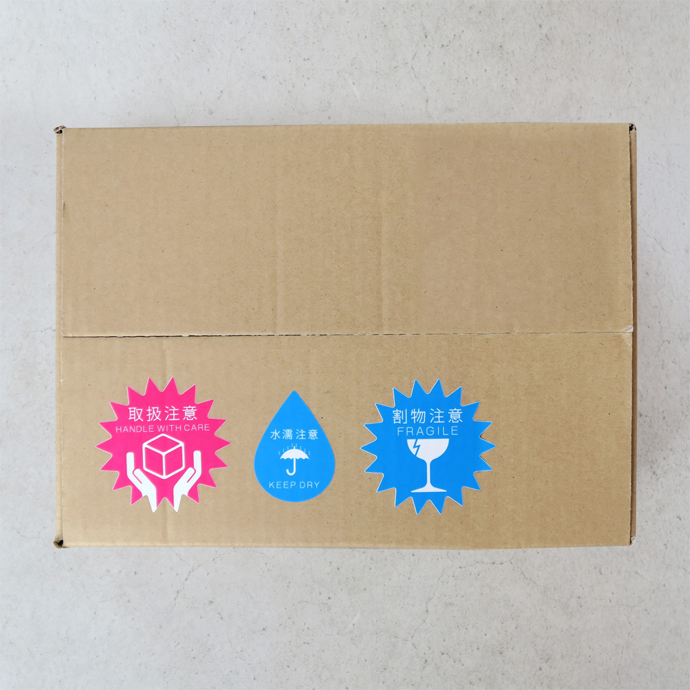 12月の商品発送は注意シールも特別仕様に!ポップで使える注意シールセット期間限定発売です。