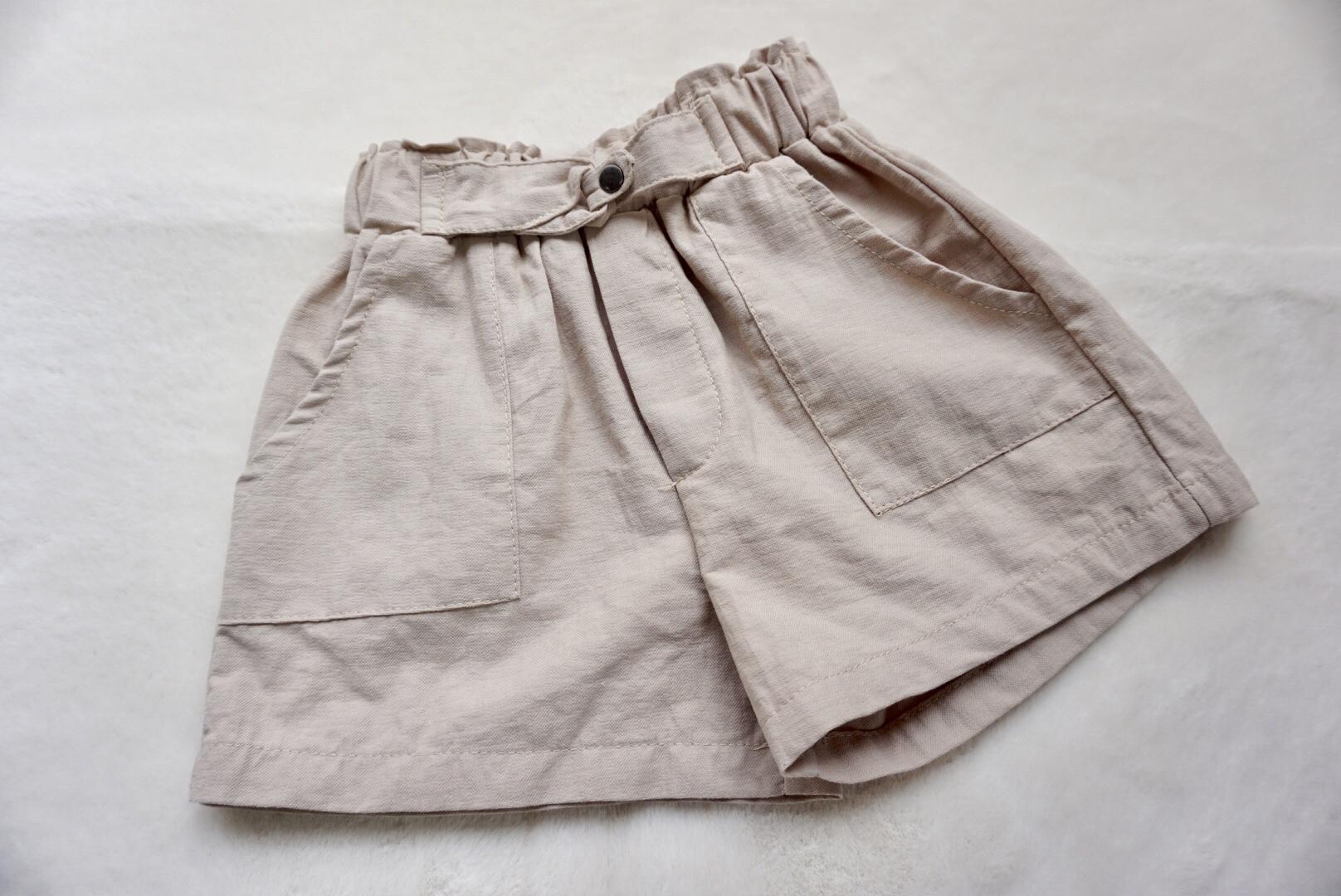 【着まわし抜群♡大きなポケットが印象的なシンプル半ズボン】