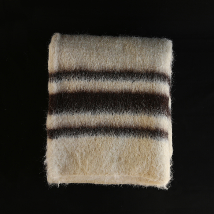 Cobertor de Papa ブランケット - ホワイト×ブラウン