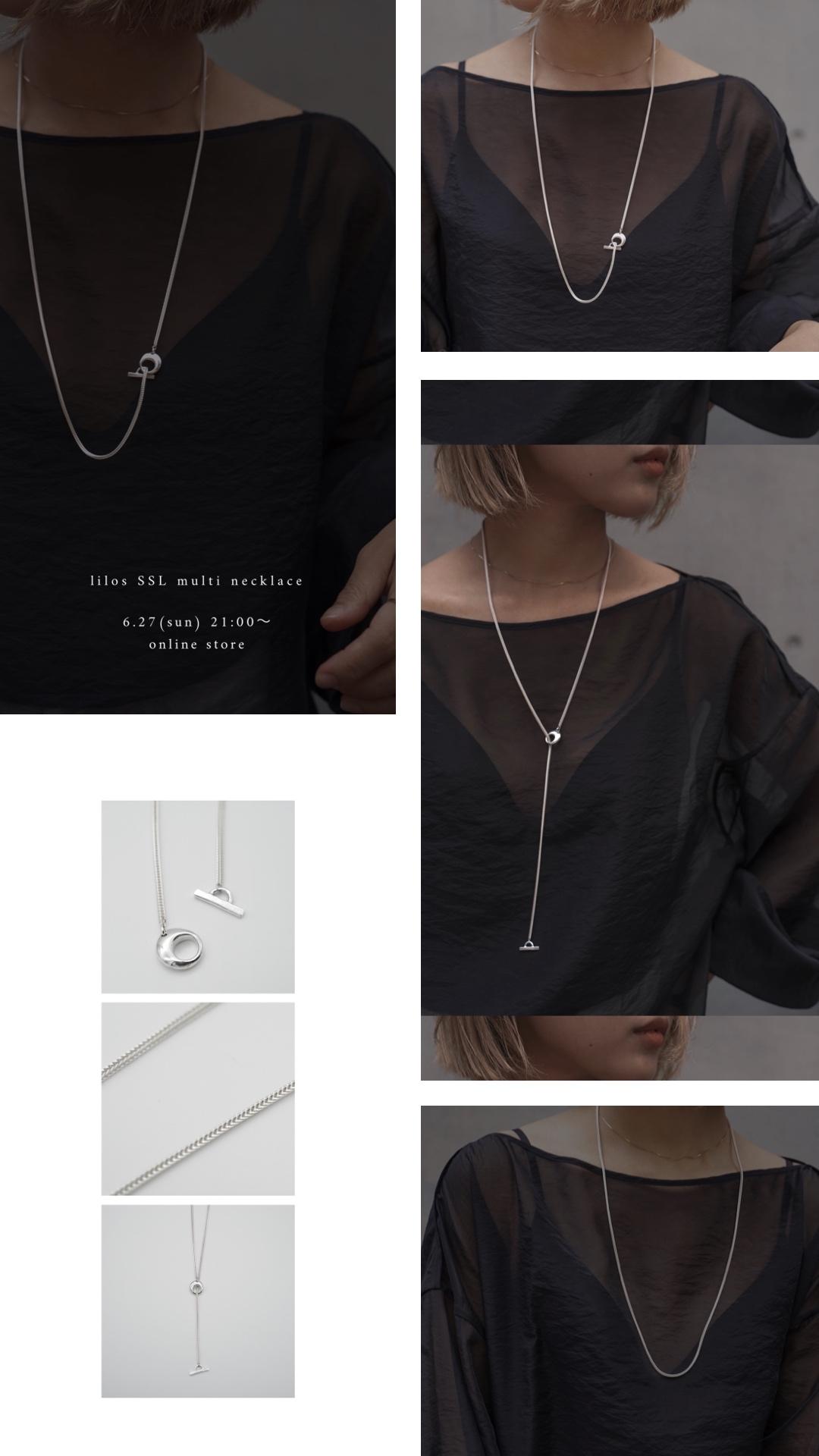 お知らせ:新作商品 lilos ssl muiti necklace 6/27(sun) 発売