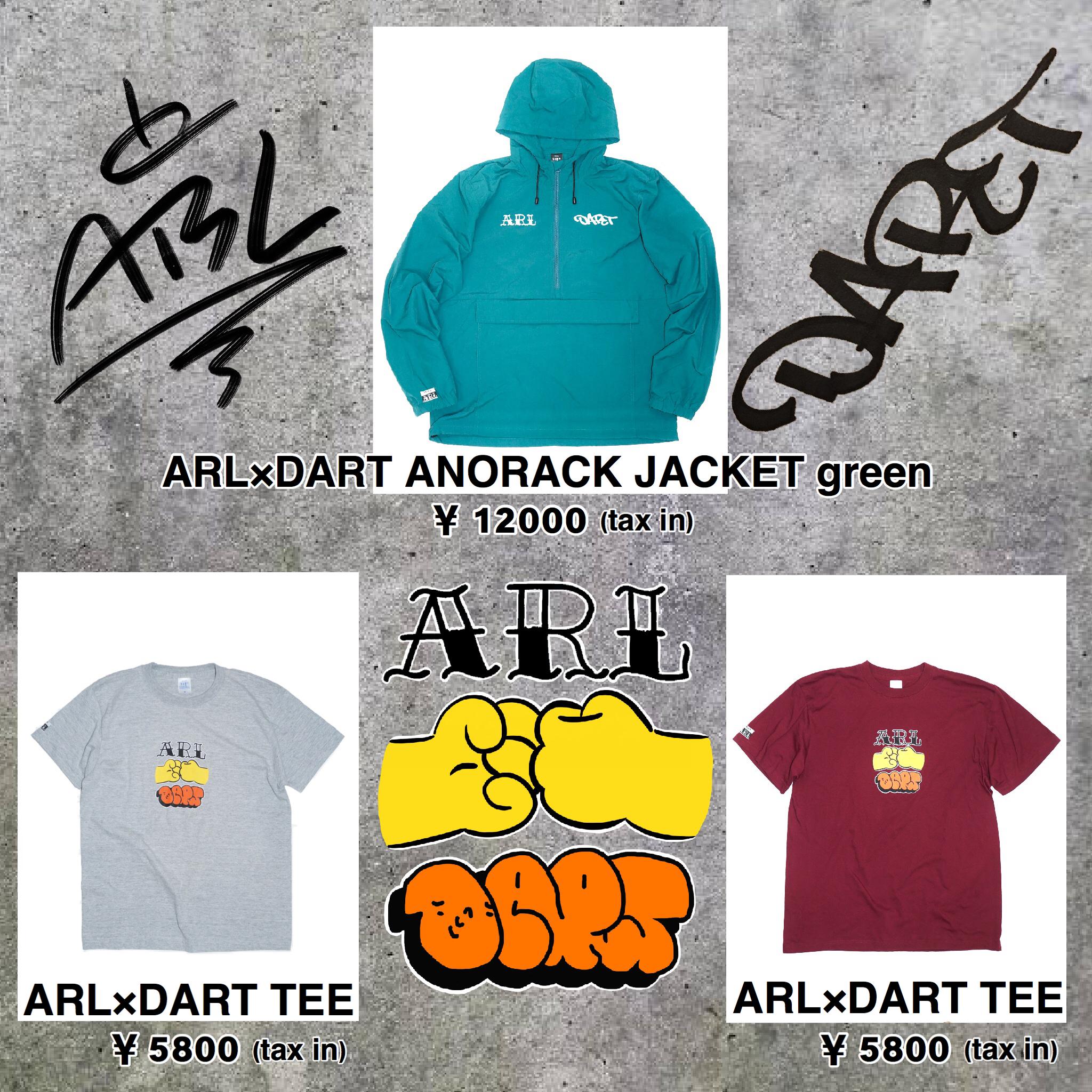 【ARL】×【DART】ONLINE SHOP 販売決定!!