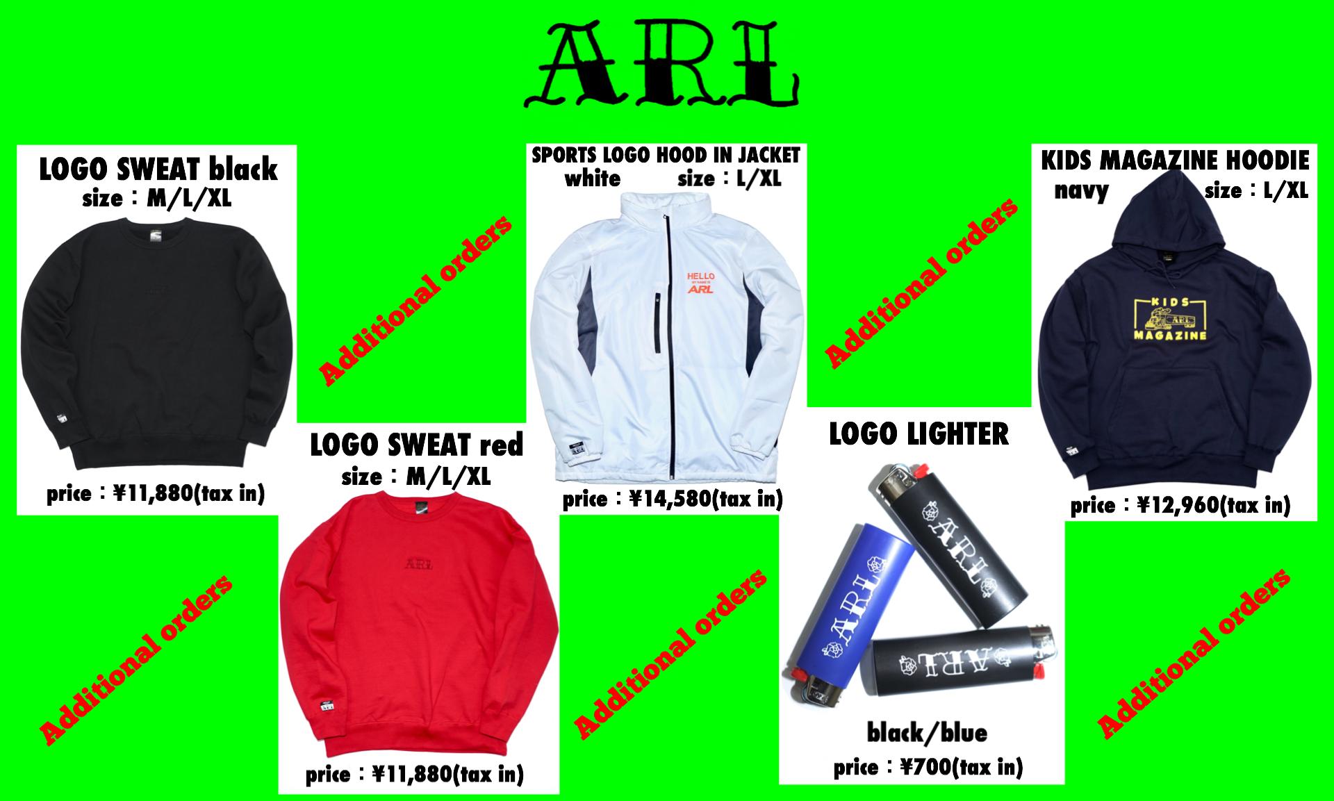 【ARL】新作再入荷!