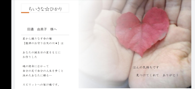 龍神のお守り☆ドラゴニックチャートの鑑定書【サンプル】