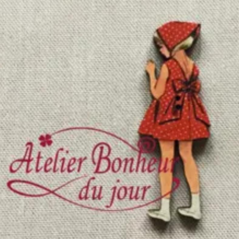 フランス製 木製ボタン アトリエ ボヌールドゥ ジュールの可愛いボタンを販売中💕