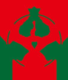 ロゴクリスマスバージョンにしました。