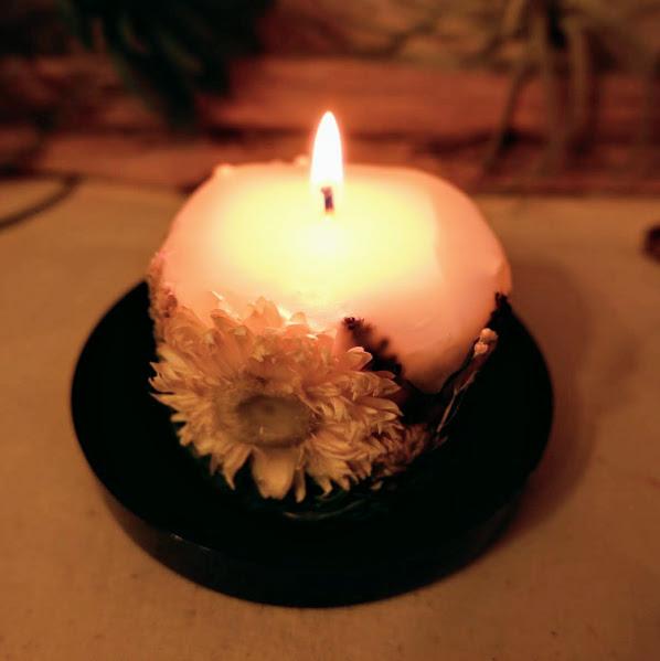 ボタニカルキャンドル 灯し方① ~Aサイズ~