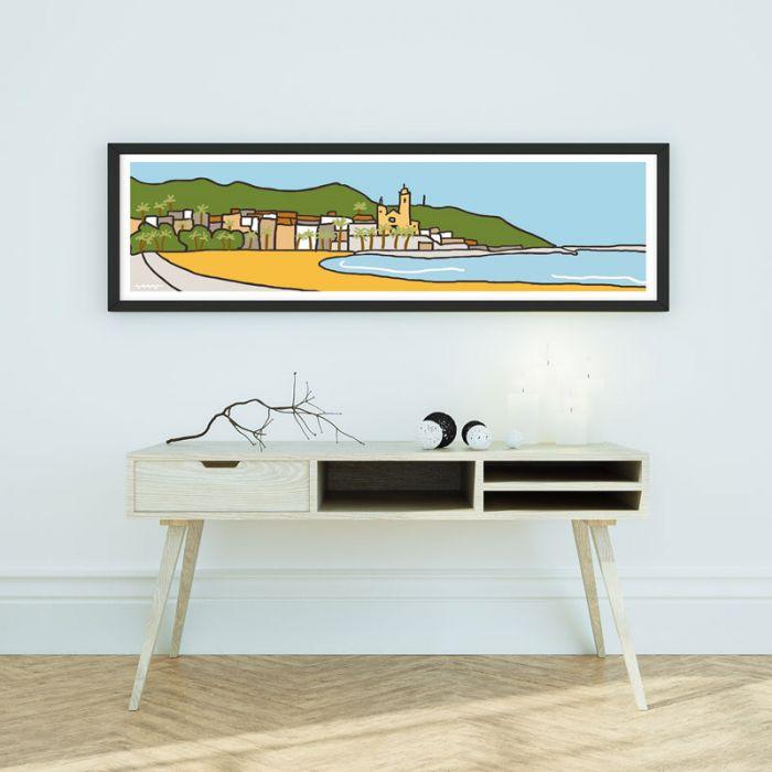 <新商品入荷のお知らせ>穏やかなビーチリゾート地シッチェスを描いた作品