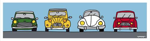 クルマ好きにはたまらない!リビングが4台の欧州車が並ぶおシャレなガレージに
