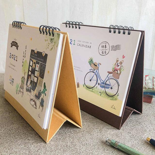 2021年の台湾卓上カレンダー全6種
