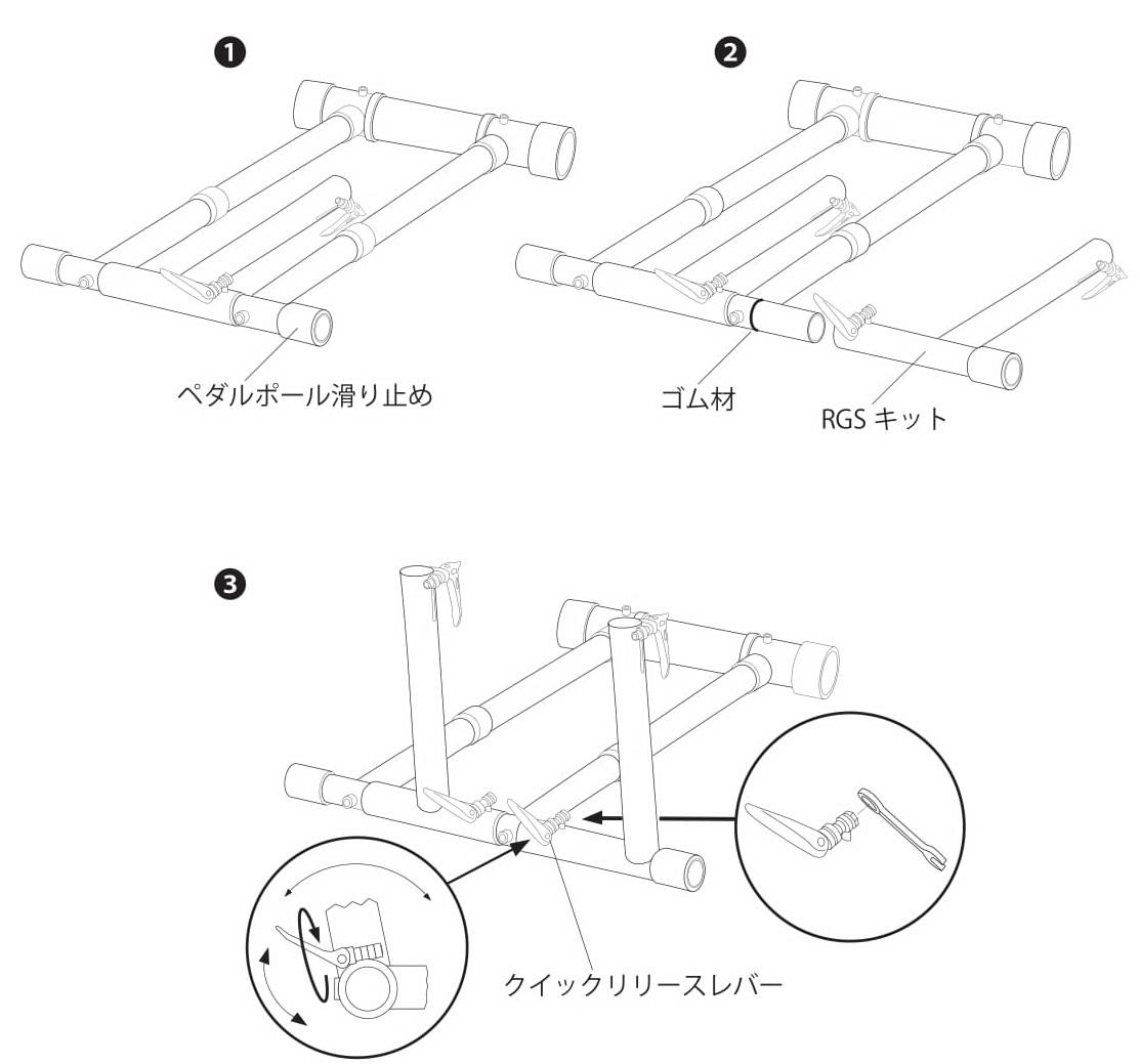 [マニュアル]ホイールスタンドプロRGSアップグレードキットをスタンド本体へ取り付けるには