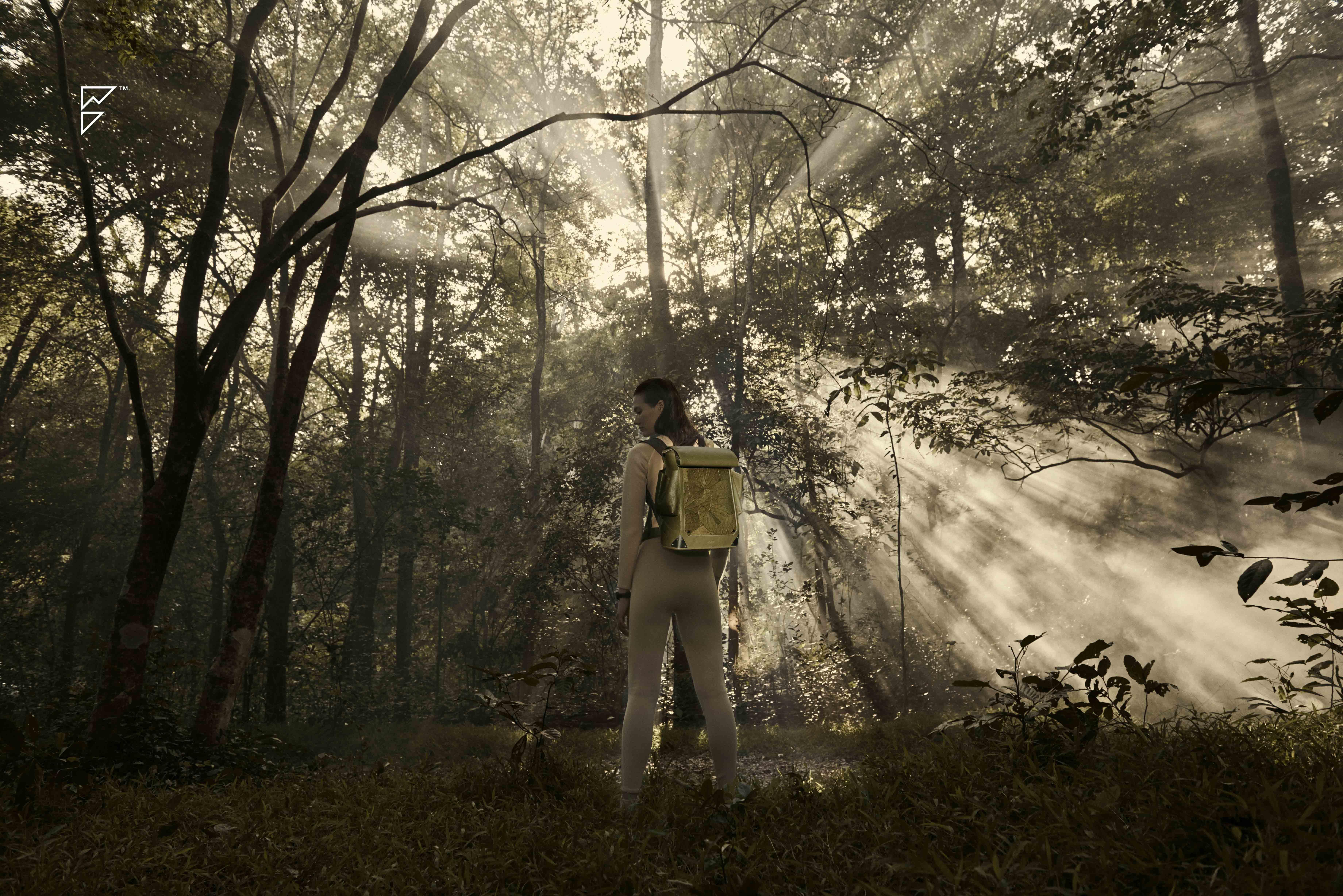 葉、木、石の素材を用いたニューコレクション「FORREST レザーバッグ」の発表
