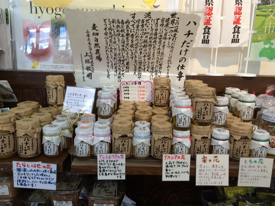 兵庫県養父市八鹿町「道の駅 但馬の蔵」にて、はちみつ販売しています!