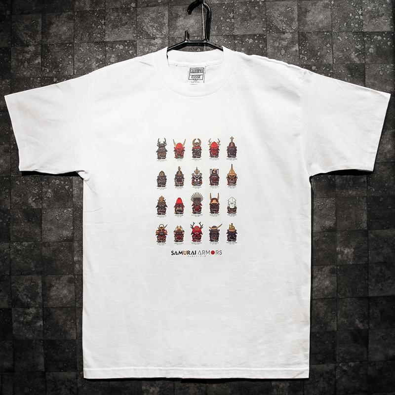 オリジナル戦国武将の甲冑キャラクターTシャツ【大特価】海外へのお土産にもぴったり!