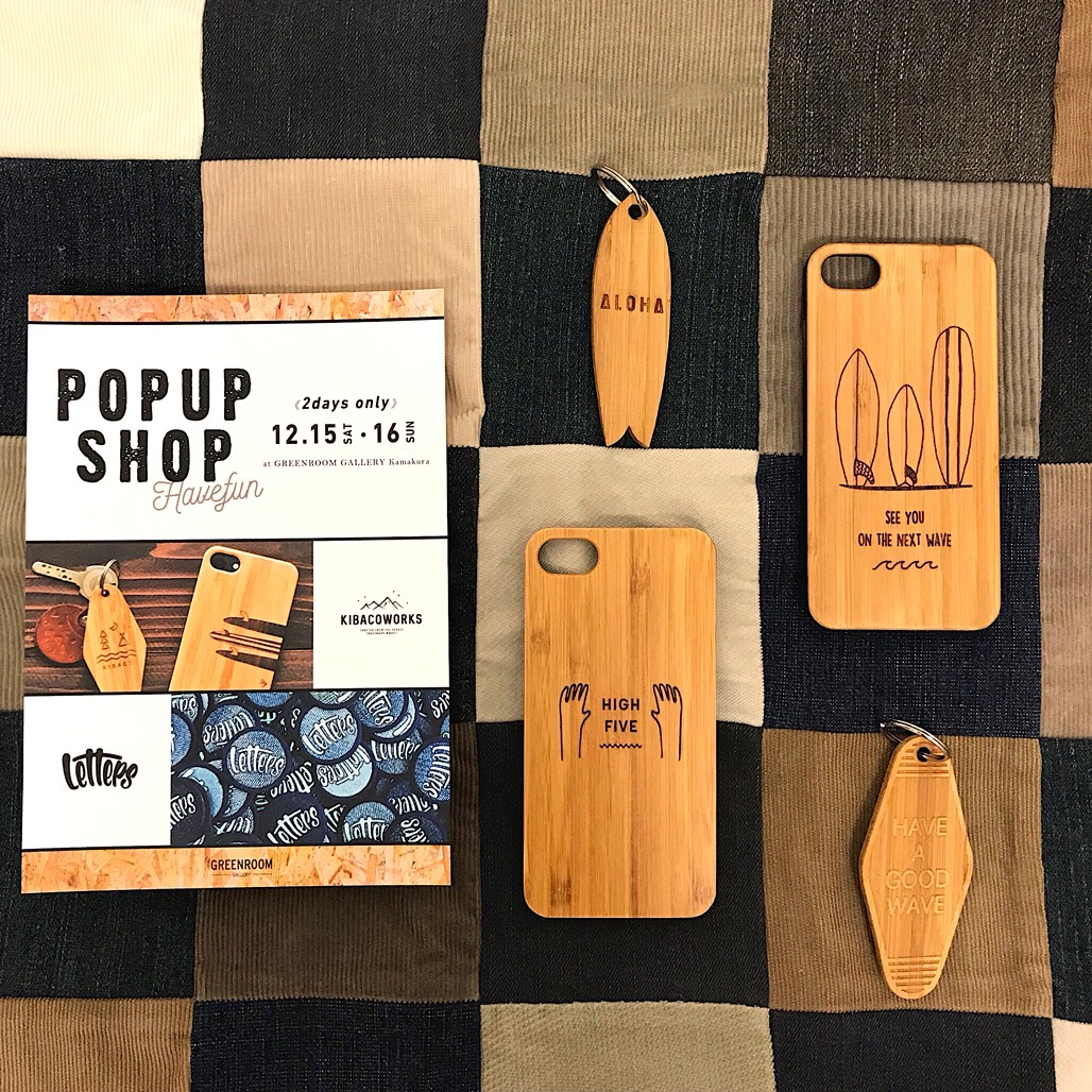 GREENROOM GALLERY 鎌倉 POP UP SHOP 開催のお知らせ!
