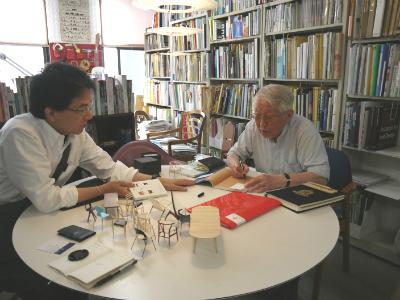 島崎 信先生にミニチュアを見ていただきました!