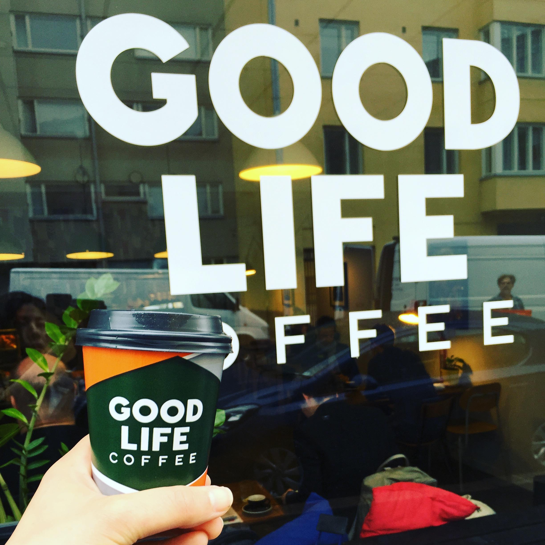 ヘルシンキの素敵コーヒーショップ。