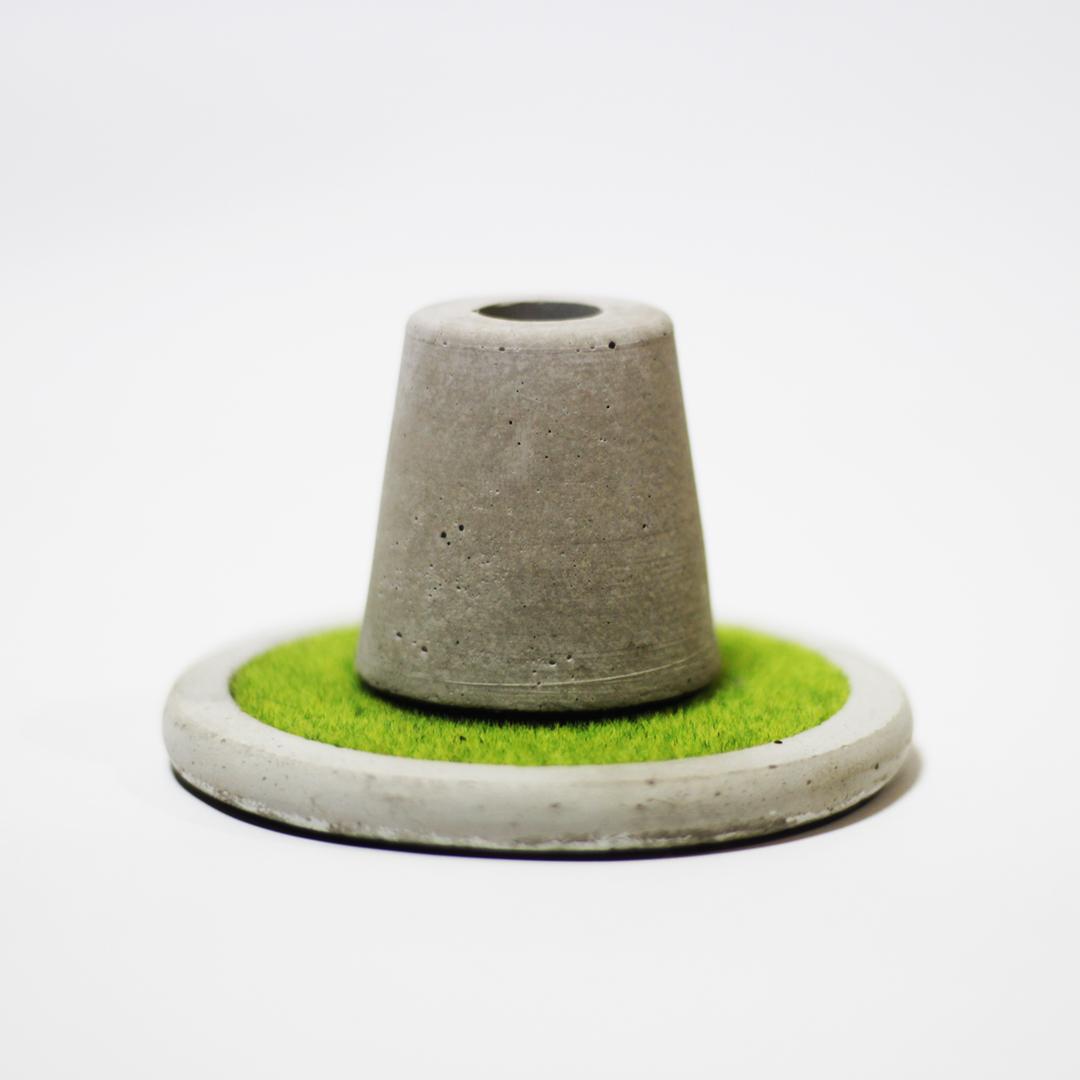 [まるでジオラマ]芝生風コンクリートコースター