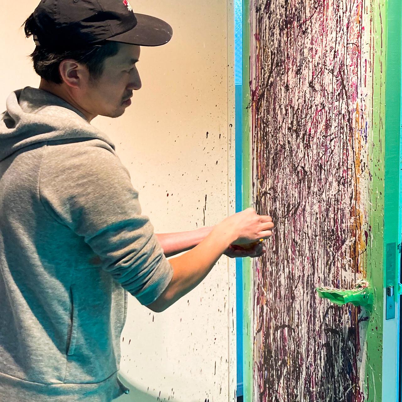 Art House|友家にて扉に絵を描かせて頂きました。