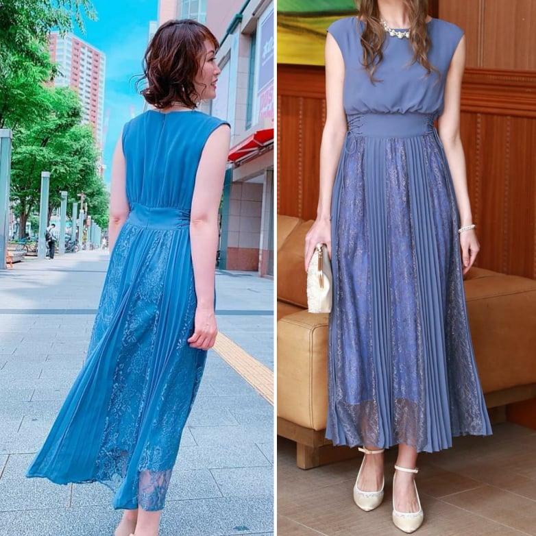 お客様コーデのご紹介~夏らしいブルーからのロング丈ドレスをさらりと着こなし~