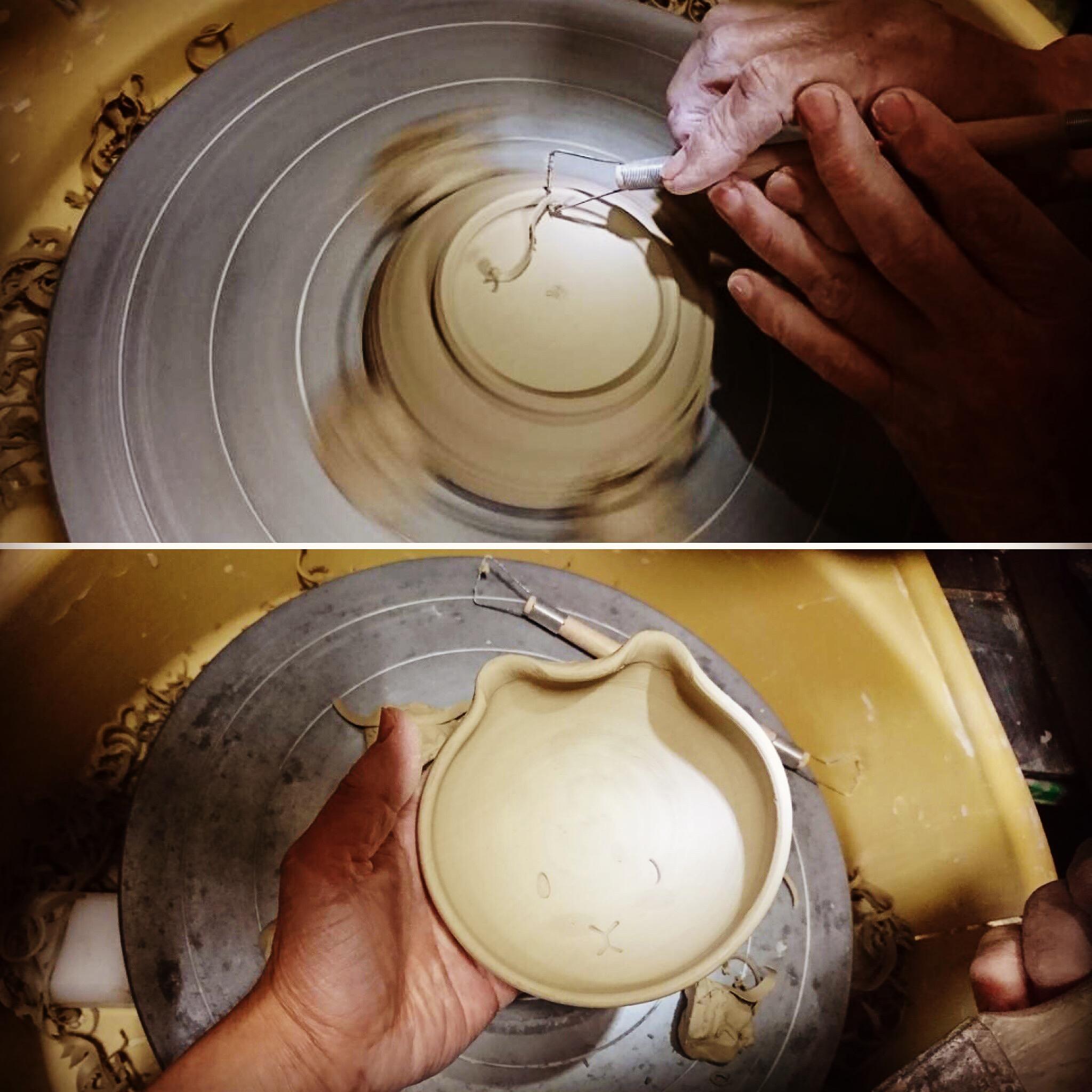 豆卯皿(まめうざら)制作は続きまーす^_^