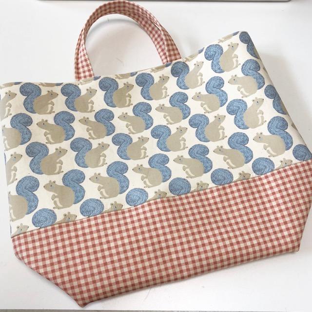 USAコットンで作った「お買い物バッグ」