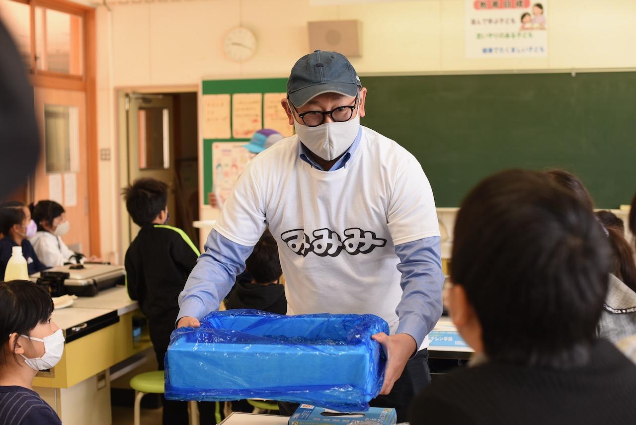 みみみ出張食育食育授業@好間第一小学校