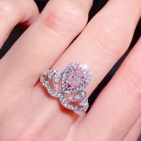 PINK DIAMOND TIARA RING DRESS UP