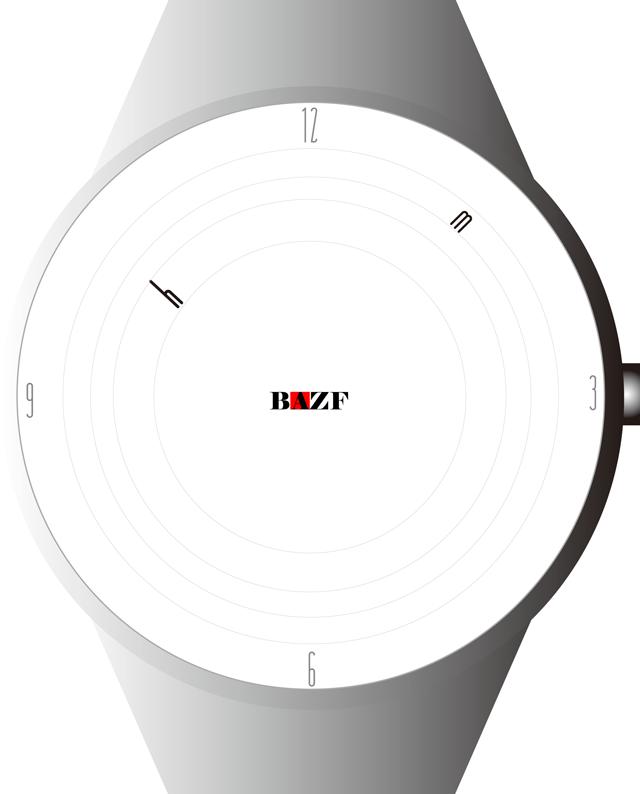 自分がデザインした腕時計に思いをはせて