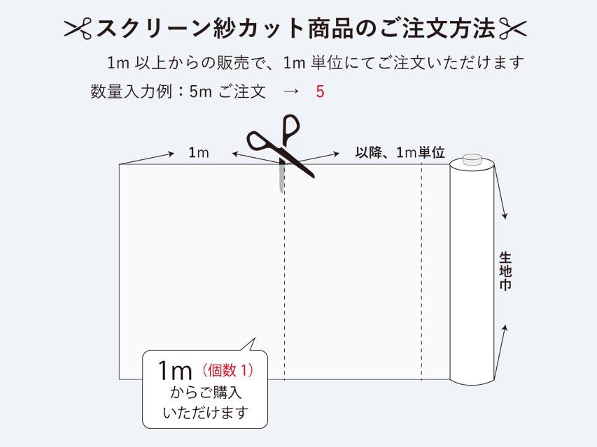 スクリーン紗カット商品の注文方法について