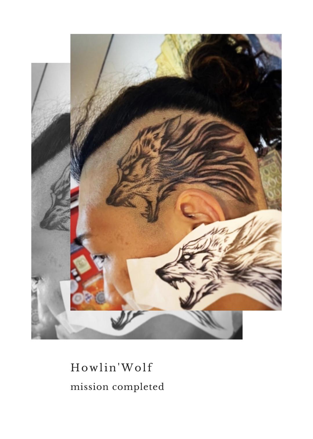 頭 ヘッド<狼 ウルフタトゥープロジェクト> | 東京渋谷タトゥースタジオ 刺青師 渋谷伊彫