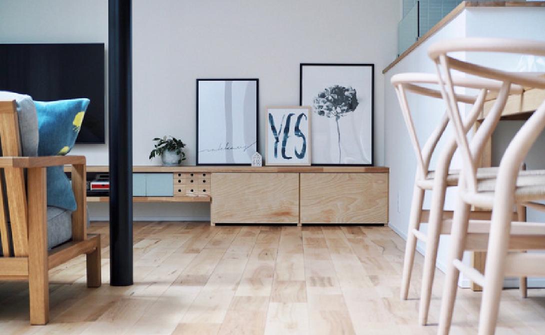 木製家具のあたたかみ溢れるリビング | インテリア事例