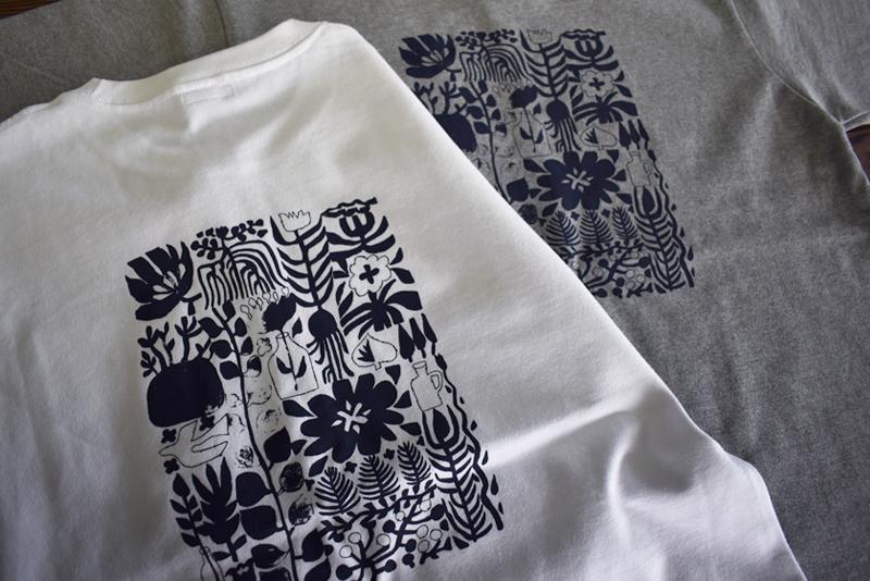 「tsudoi」オリジナル・ハンドプリントTシャツ販売開始しました