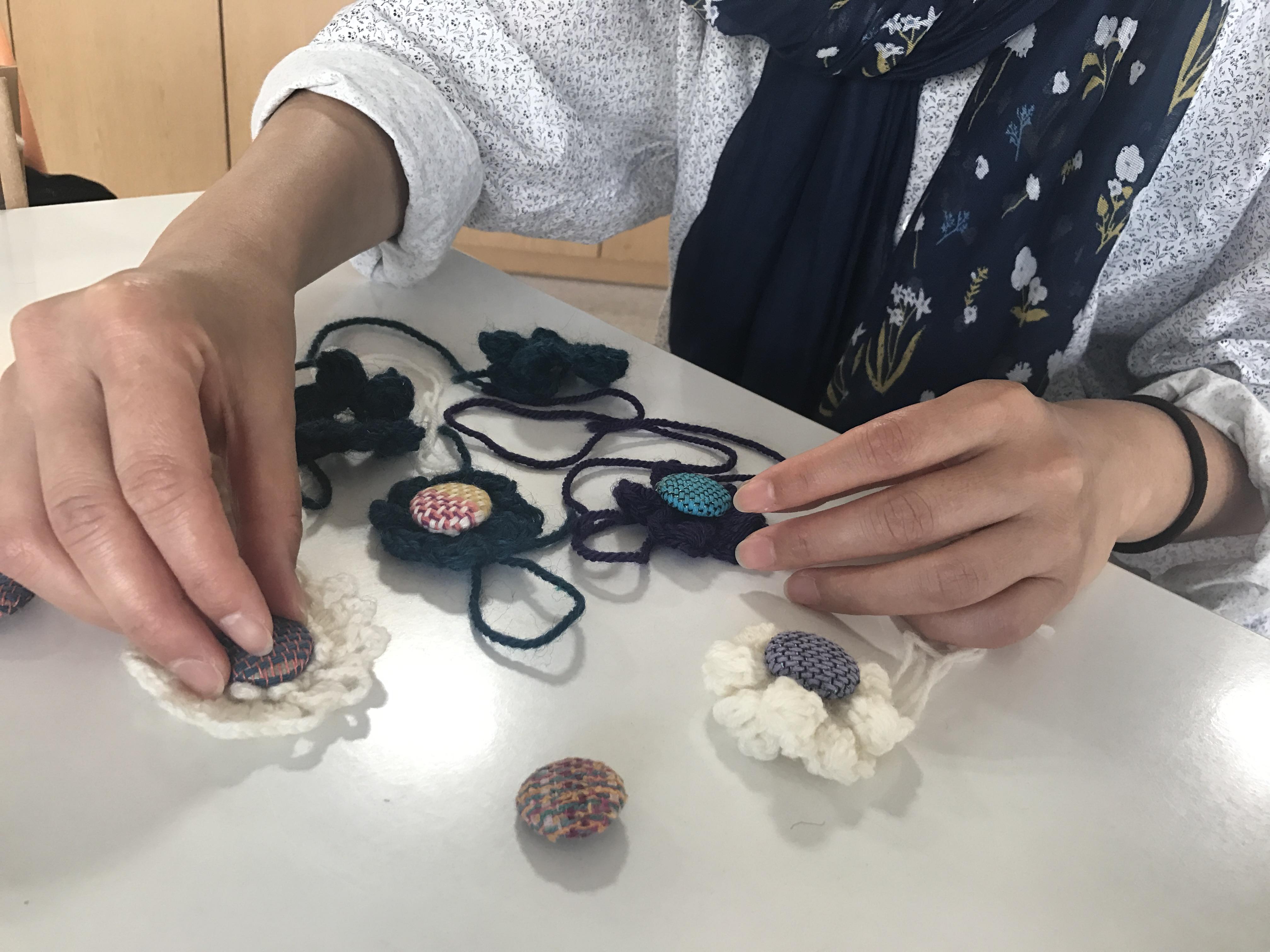 【コラボ商品】作業所のさをり織りを使ってデザイナーさんが作ったシリーズ