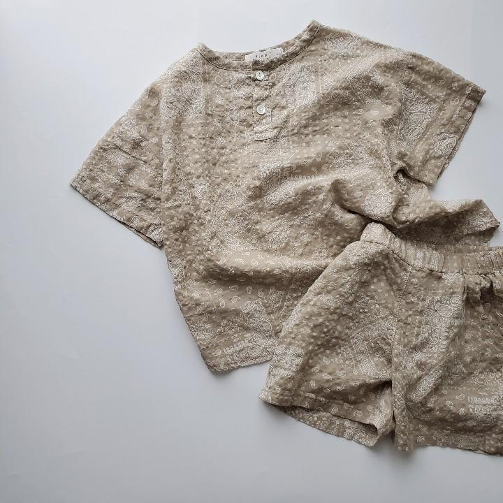 paisleyフレセットアップ from.l キッズ 子供 リラックスウェア 夏 涼感 韓国子供服