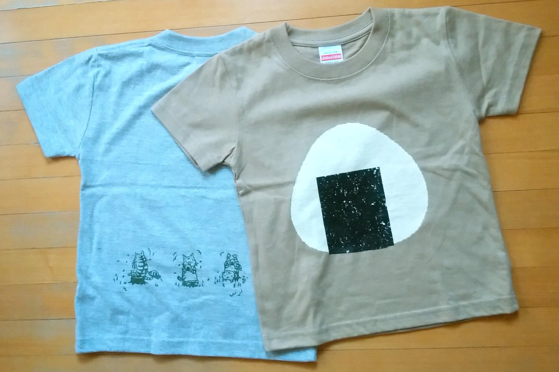 HMJ出品アイテムその1/シルクスクリーン/おにぎりTシャツ