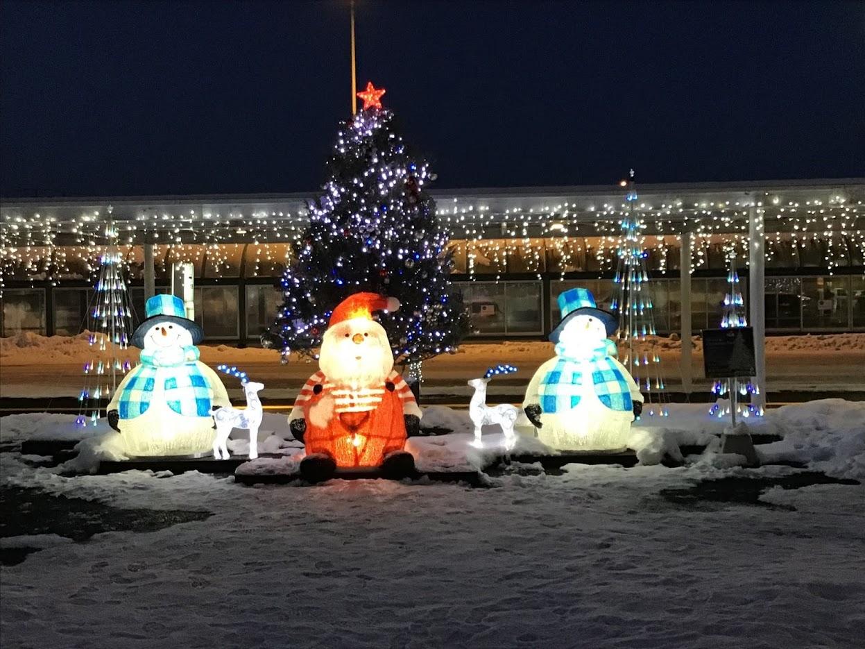 七飯町は雪