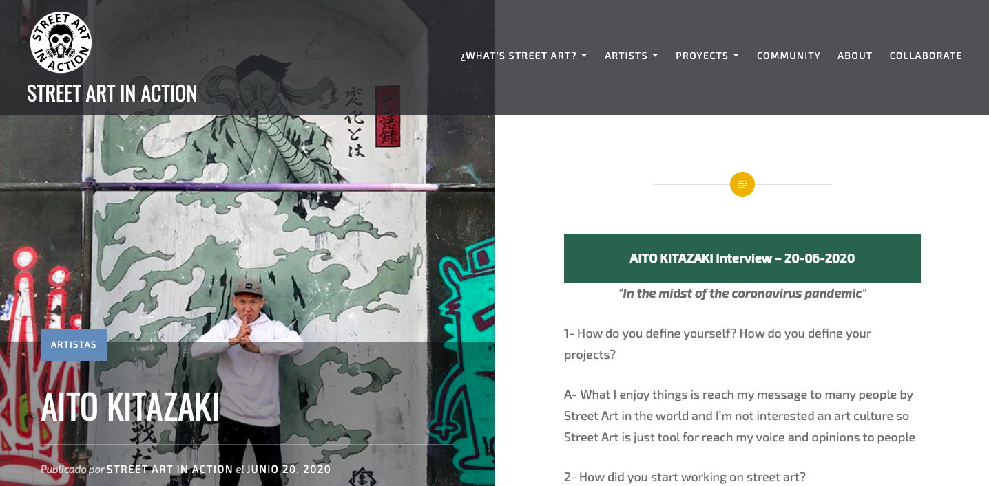 Interview of Street Art In Action 20.06.2020