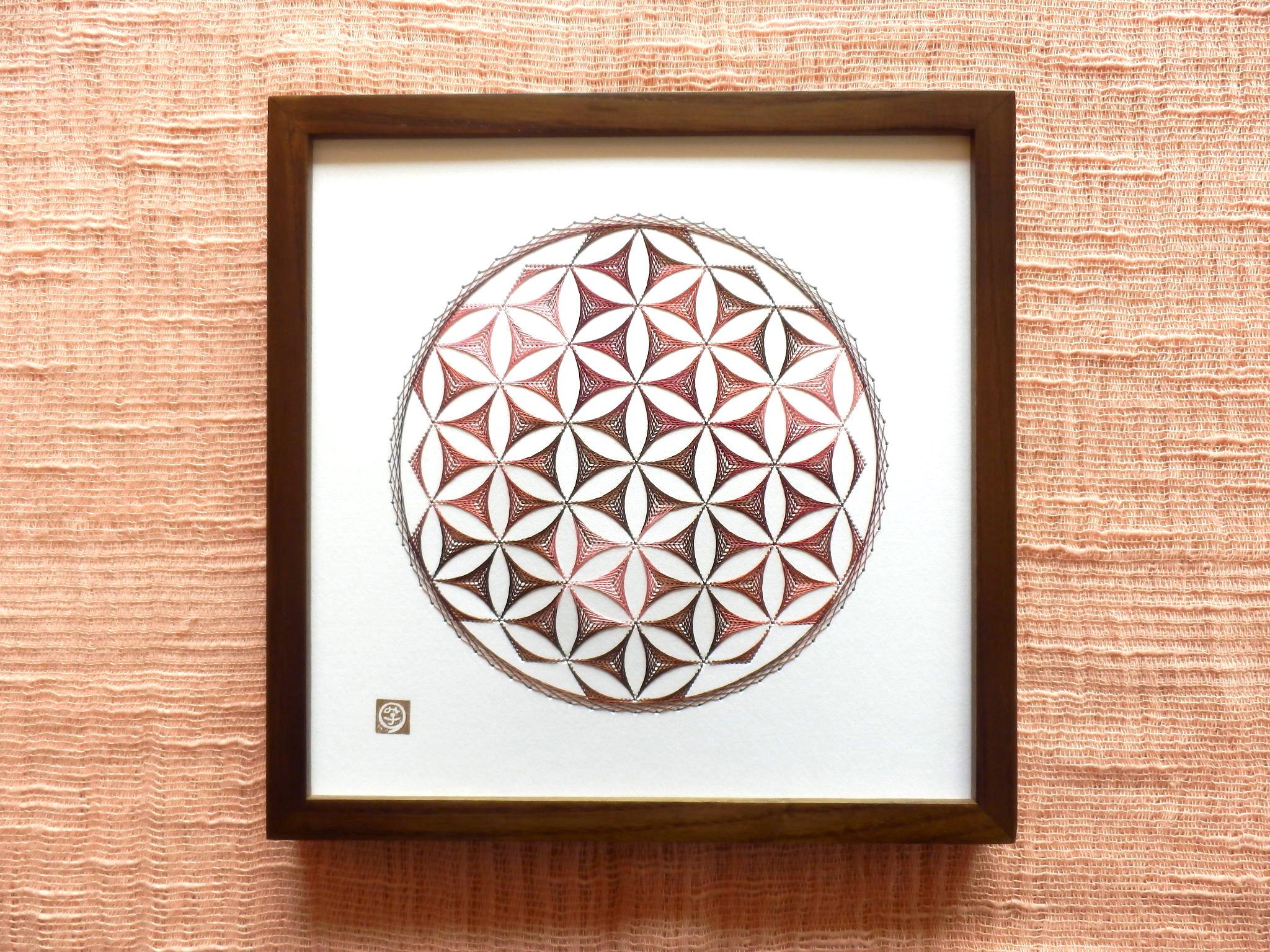神聖幾何学フラワーオブライフ【糸とおし】