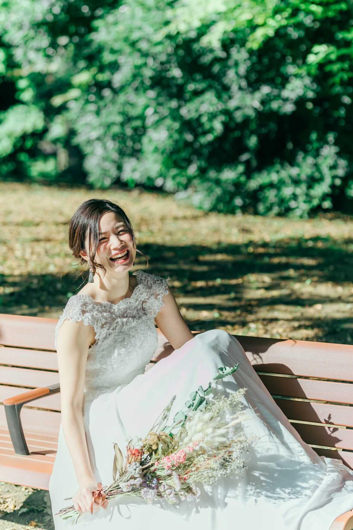 花嫁様からwedoドレス着用時のお写真を頂戴しました♡
