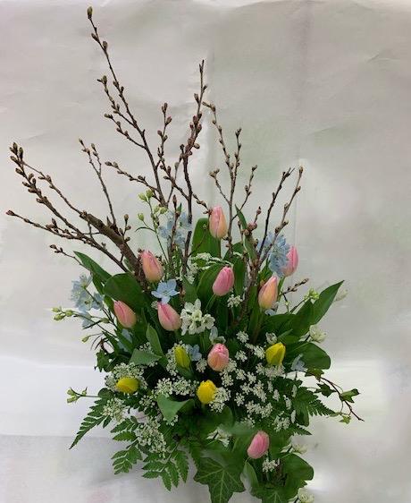 島田市花屋 合格祈願花 春の花アレンジメント