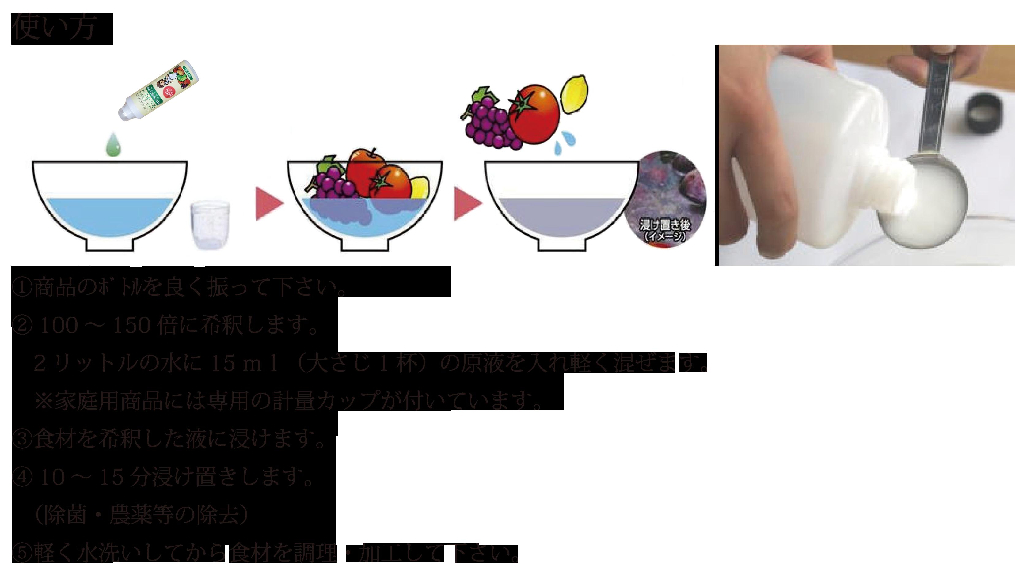 よくある質問Q&A やさい・くだもの安心キレイ 食材の除菌・洗浄用(食品衛生)