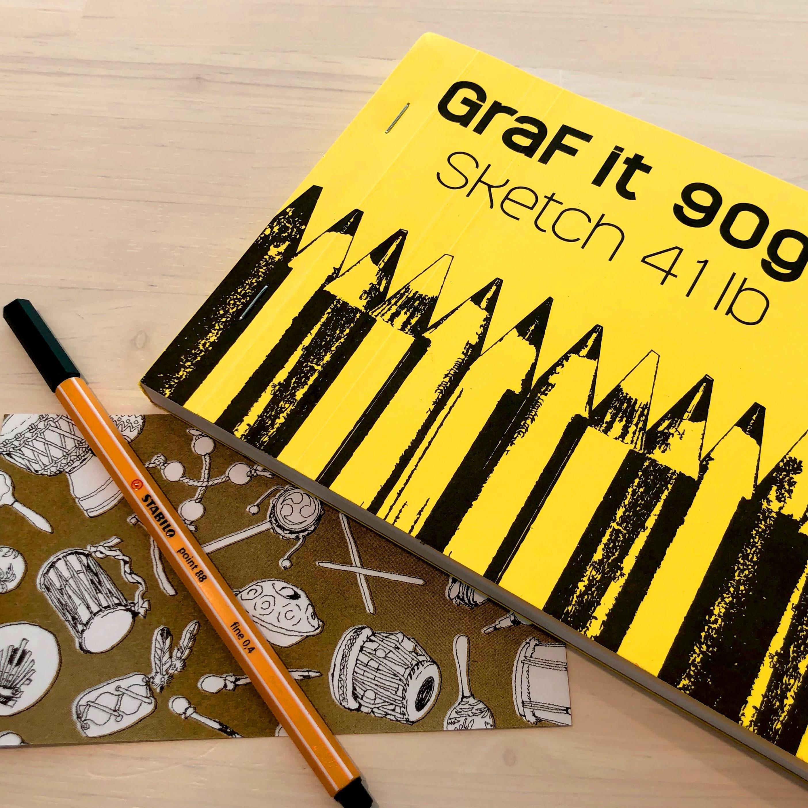 【MAMESUKIで包む小さなお気に入り】心躍るクロッキー帳 クレールフォンテーヌ グラフィット