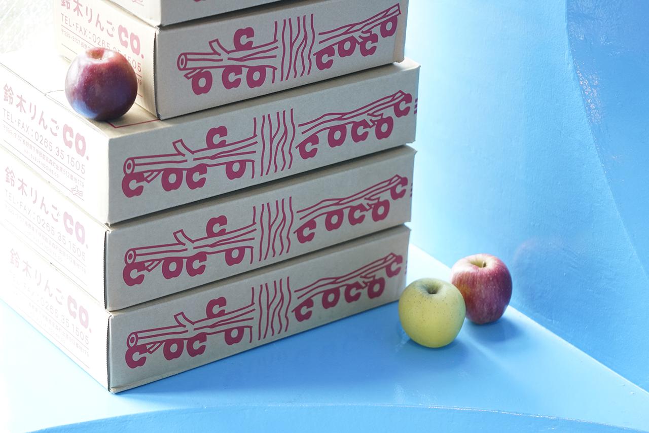 鈴木りんごカンパニーの「りんご箱」ができました