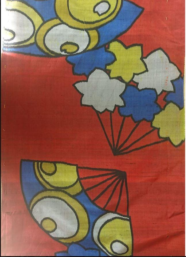 POPな赤い銘仙&オーダー品の型紙