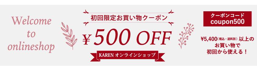 初めてのお買い物時に使える500円クーポン!