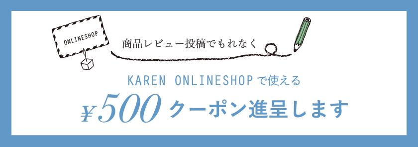 レビュー投稿で、次回のお買い物に使える500円分クーポンコードをプレゼント!