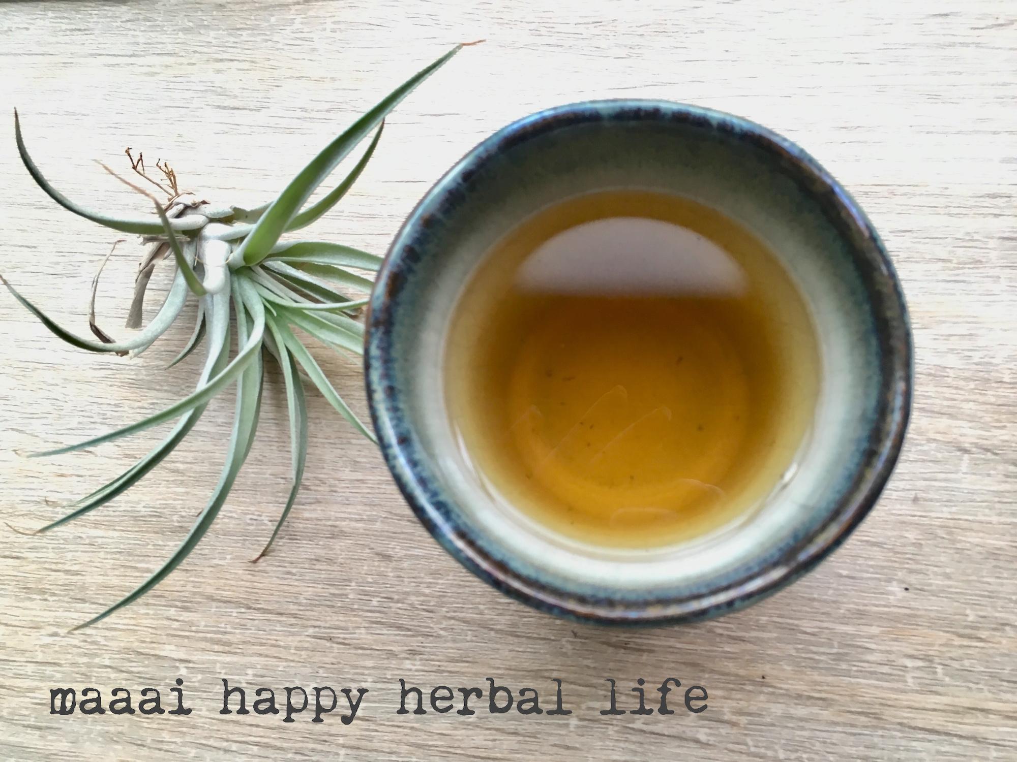 Drinking herbal tea*