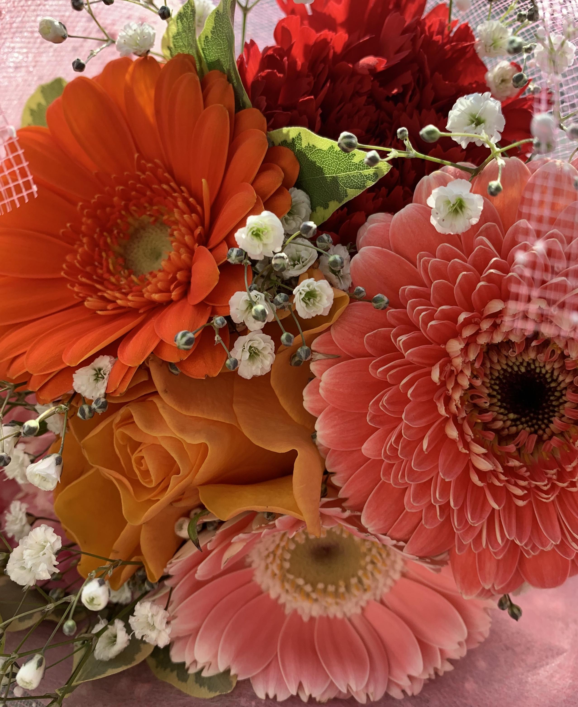 花瓶のお花に!
