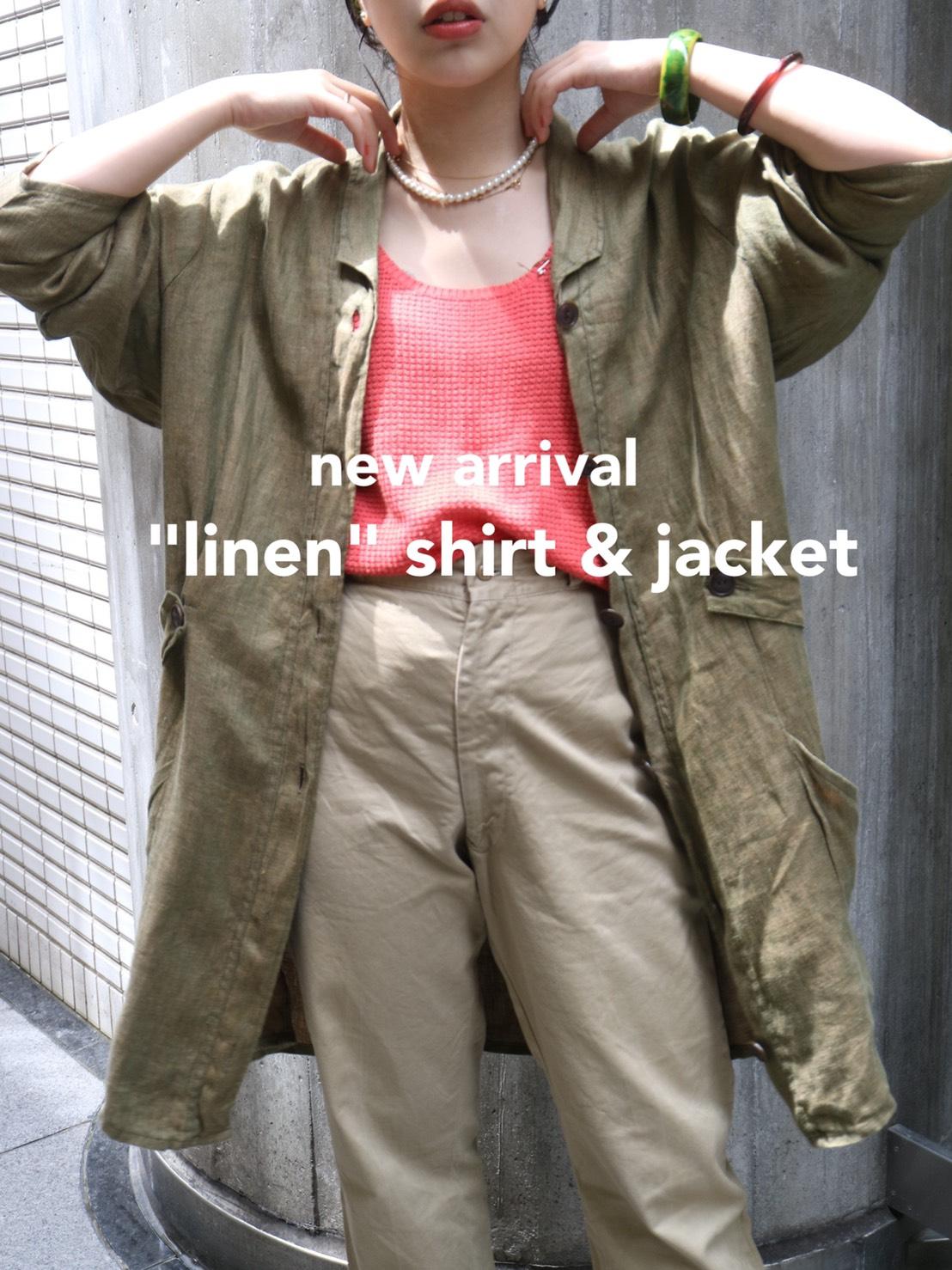 "new arrival ""linen"" shirt & jacket"