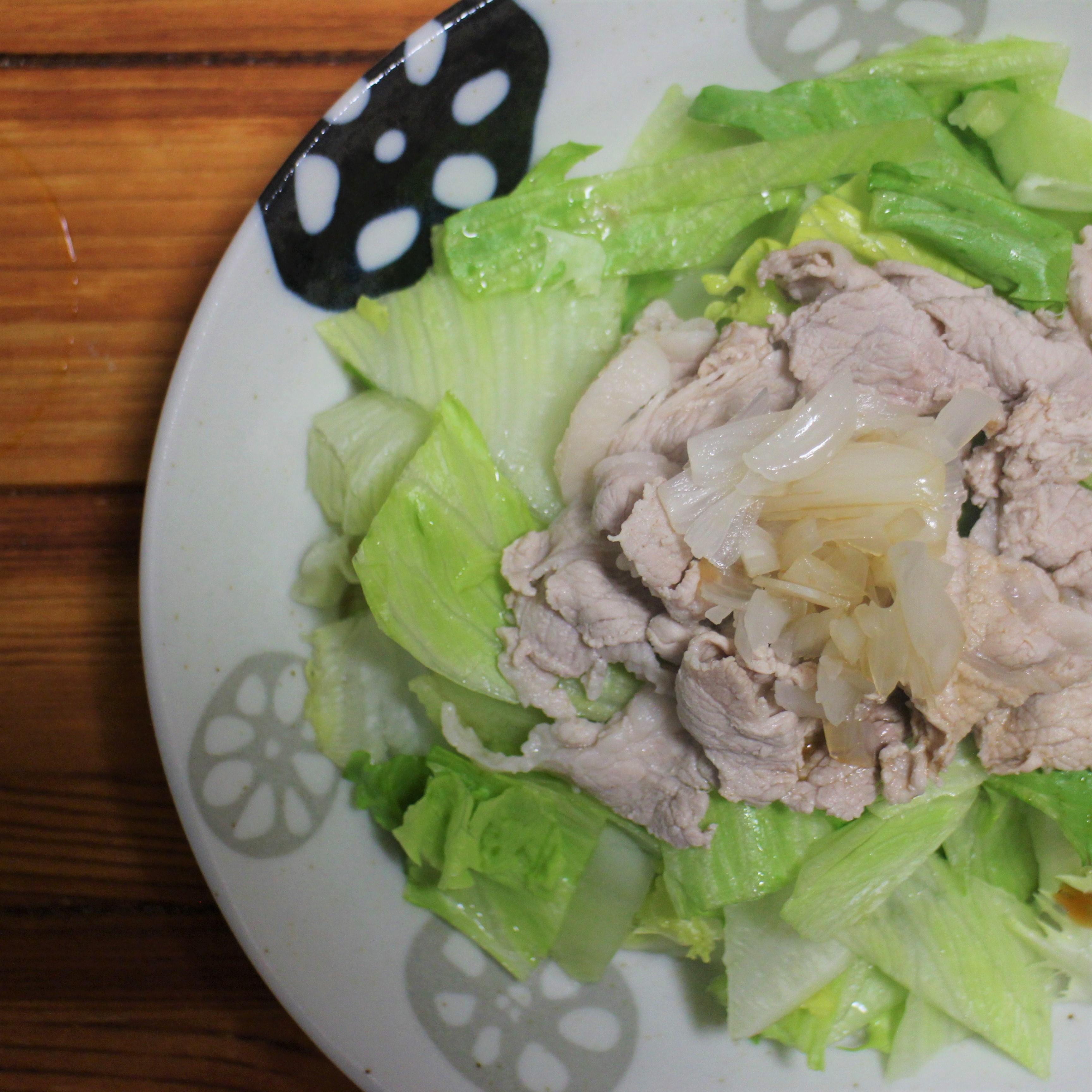アレンジレシピ①「らっきょうの豚しゃぶサラダ」